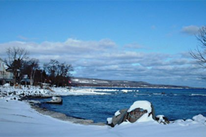 Meaford Harbour in the Winter