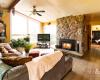 Living Room in lovely Shelburne Home