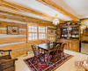 dining area log chalet in kimberley